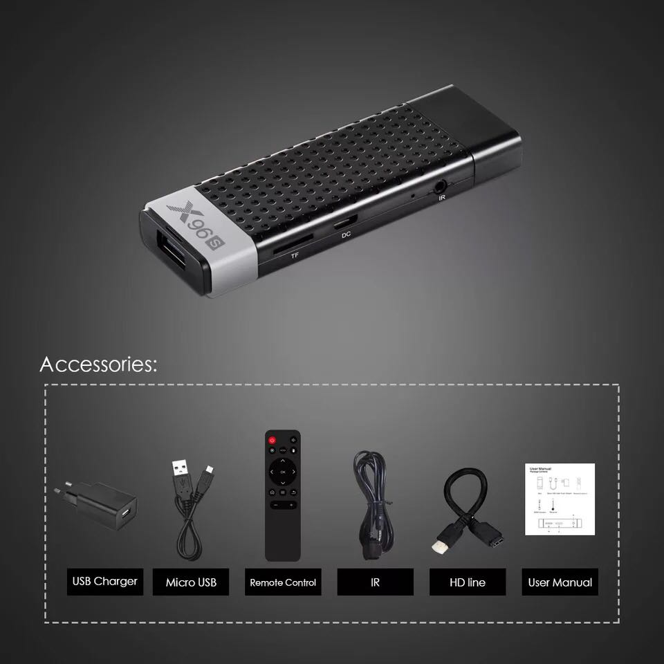 2019 New 4k Android TV Stick Dongle X96S 4GB 32GB Amlogic S905Y2 Quad Core Android 8