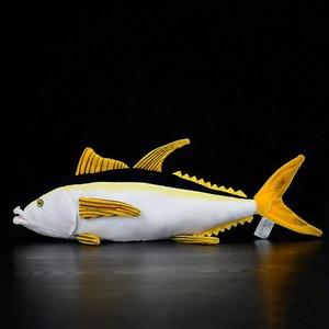 Image 3 - 40 センチメートル実生活マグロぬいぐるみリアルな海の動物魚ぬいぐるみ子供のためのぬいぐるみのおもちゃ & ホビー