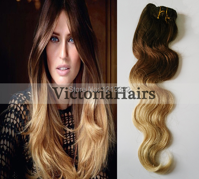Hot Queen Ombre Human Hair Extensions 7pcs Set 7A Brazilian Straight Wavy Remy Clip In Hairs Extension Stock 4 27 On Aliexpress