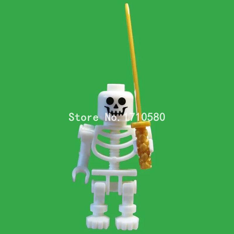 White Skeleton Soldier Ninja Minifigures Single Sale Constructing Blocks Units Fashions Mini Youngsters Christmas Items Toys