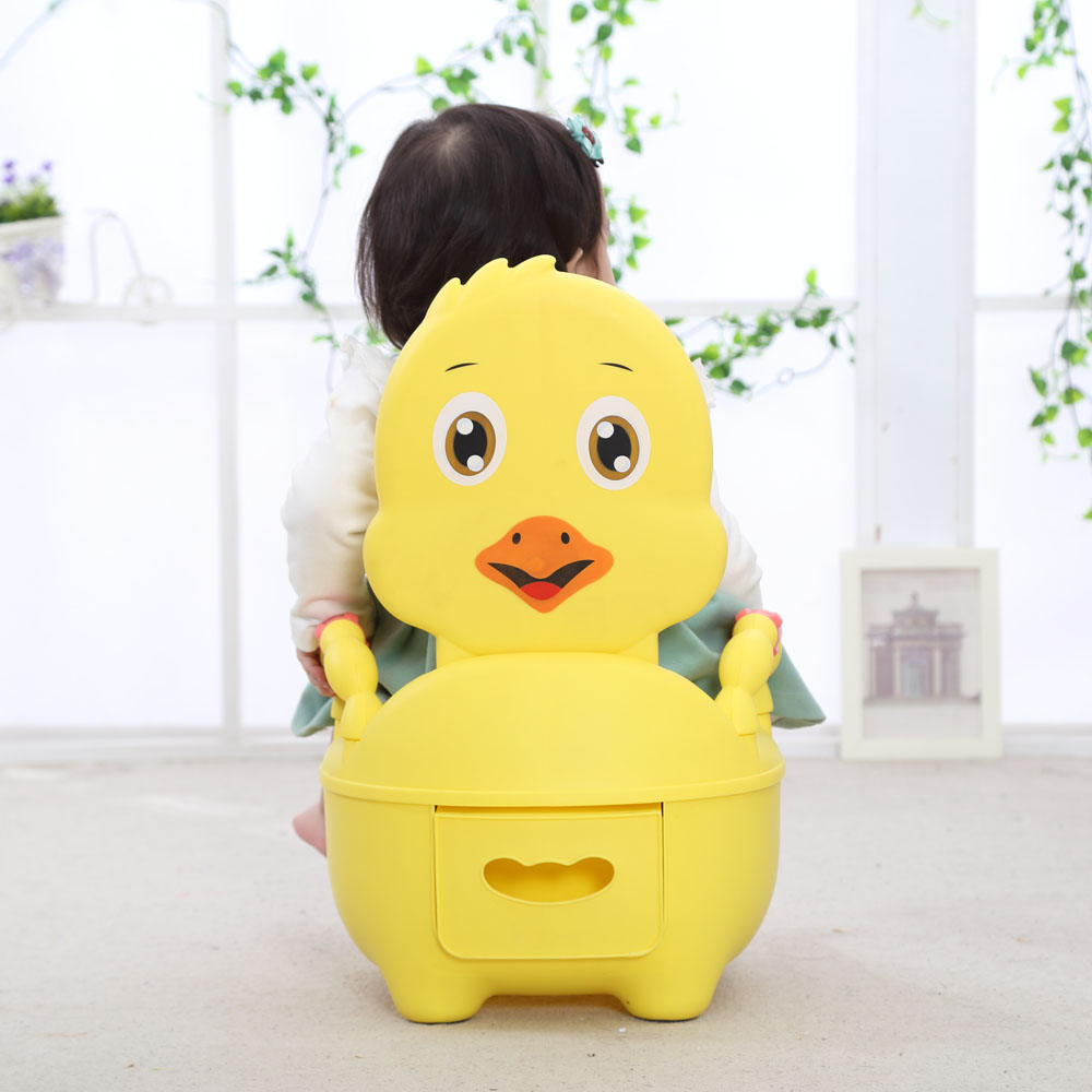 Baby Potty Toilet Training Seat Portable Cartoon Chicken Child Potty Trainer Kids Travel Baby Potty Chair For Free Potty Brush