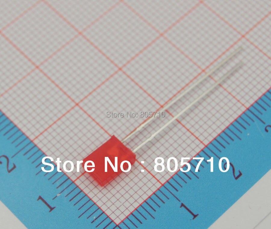 Diode rectangulaire de 2X5X7 led, rouge lumineux superbe 1.8-2.0V 20mA 645nm 15-20mcd 2000 pièces/lot
