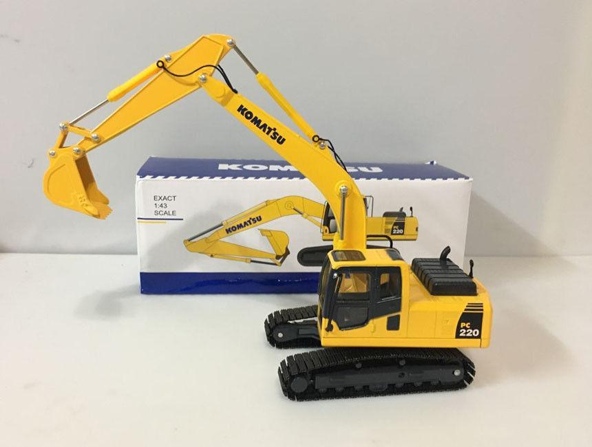 Rare!! Komatsu PC220-8 Hydraulic Excavator With Metal Track 1/43 Scale Die-Cast Model 708 2l 04532 excavator main valve for komatsu pc250lc 6
