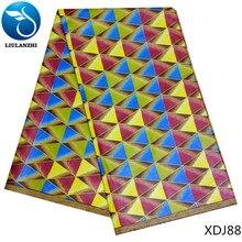 LIULANZHI african wax fabric cotton nigerian real prints 2018 design for dress 6yards XDJ73-XDJ90