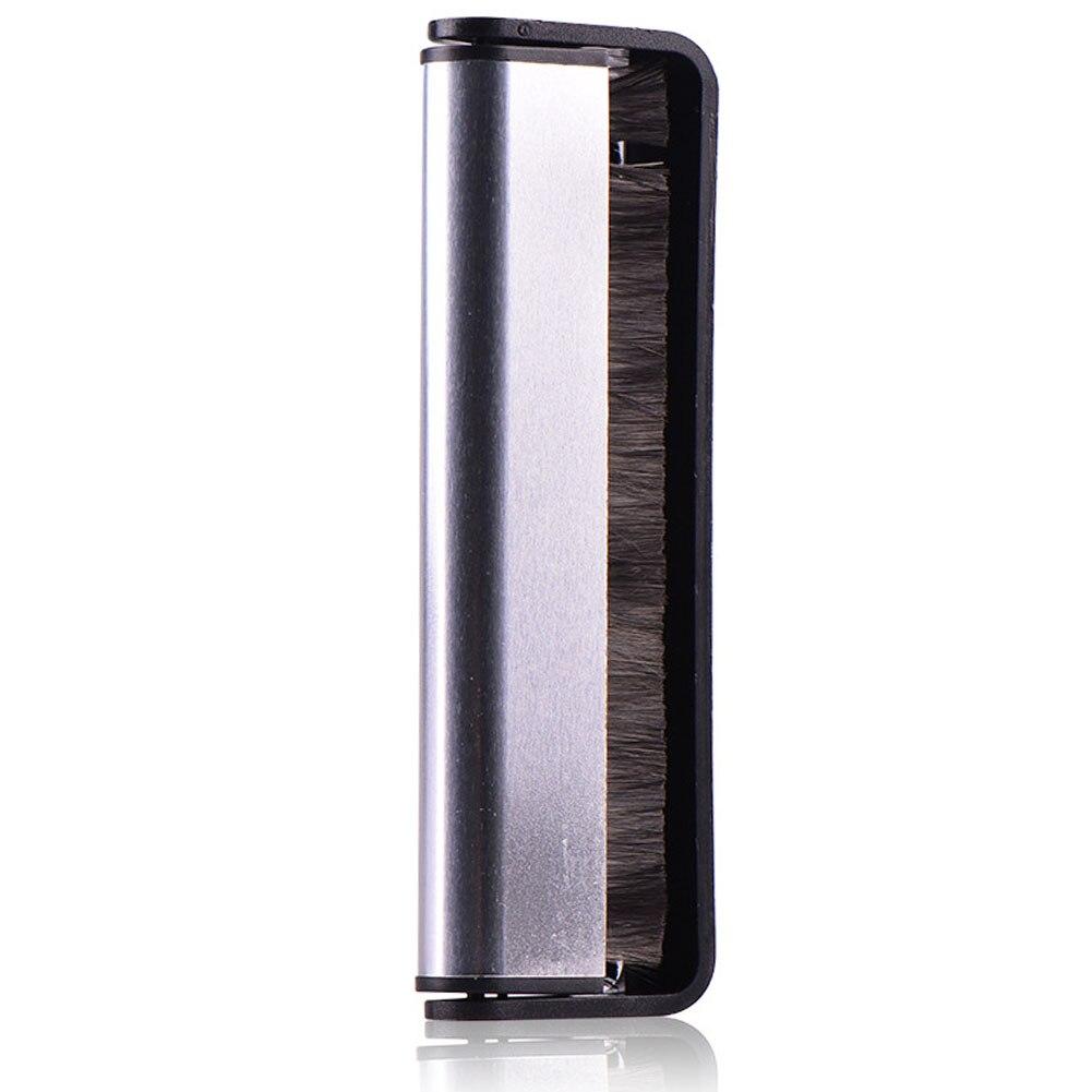 Audio Carbon Faser Anti Statische Schrubben Pad Phonographen Weiche Rekord Pinsel Vinyl Reinigung Werkzeug Reiniger Plattenspieler Schwarz Griff Feine Verarbeitung Unterhaltungselektronik