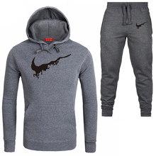 2019 New Brand Fashion Men Sportswear Print Men Hoodies+Pants Suit Hip Hop Men's tracksuit Sweatshirts Clothing Free shipping стоимость