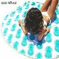 Pañuelo de gasa Toalla de Playa Toalla de Playa de Impresión de Piña Lindo Redondo Beach Cover Up Bikini Boho Summer Ronda Toalla # C812