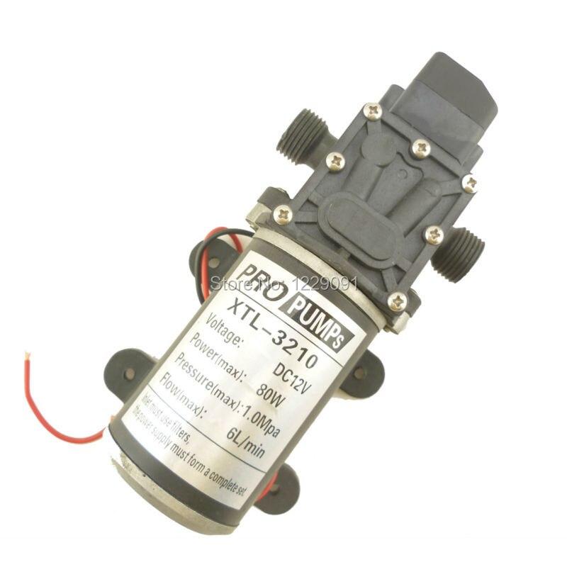 80W 12V Automatic Pressure switch type Diaphragm small Water Pump 12v high pressure 6L/min popular sale 30w small diaphragm return valve type 12v high pressure water pump