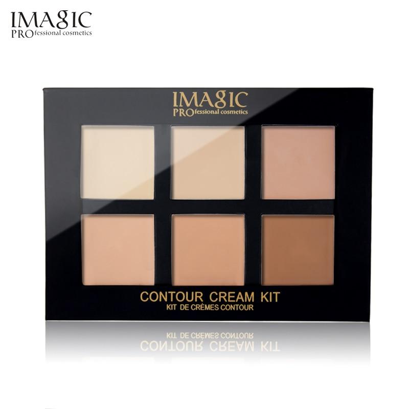 IMAGIC Concealer Cream Contour Palette Kit Pro Makeup Palatte 6 Colors Concealer Face Primer Net 30g 1pcs 15 colors makeup concealer brush cream palette