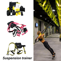 Gym workout Suspension Exercise Pull rope Resistance Bands Hanging belt Crossfit Sport Strength Training Belt Fitness Equipment