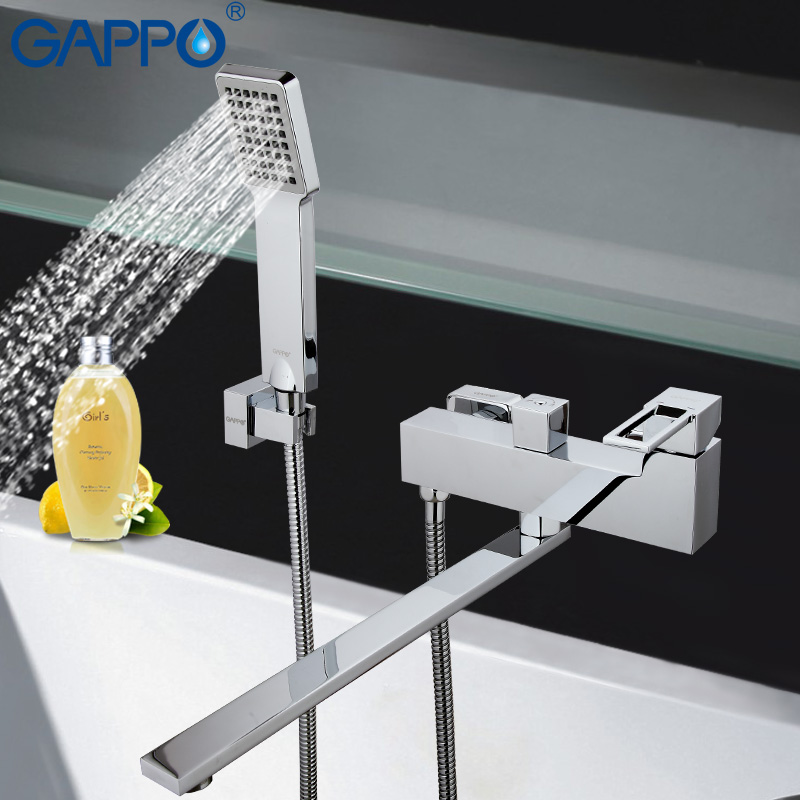 GAPPO shower system bathtub waterfall faucet mixer bathroom taps wall mounted Brass bath tub mixer bath mixer sink faucet gappo classic chrome bathroom shower faucet bath faucet mixer tap with hand shower head set wall mounted g3260