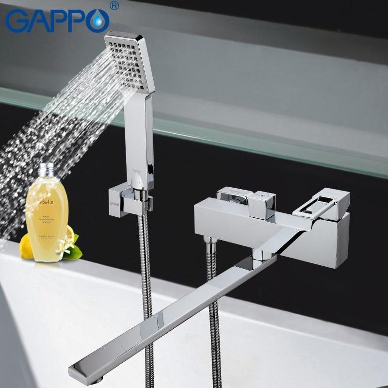 GAPPO Shower System Bathtub Waterfall Faucet Mixer Bathroom Taps Wall Mounted Brass Bath Tub Mixer Bath