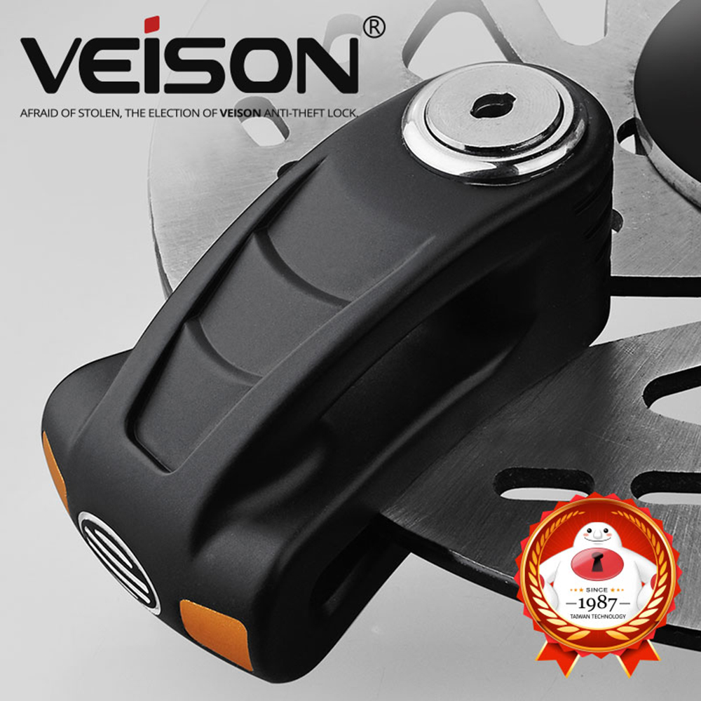 VEISON Safety Bicycle Anti-theft Motorcycle Scooter Motorcycle Rotor Brakes Disc Lock Padlock Motorbike Lock Security Waterproof