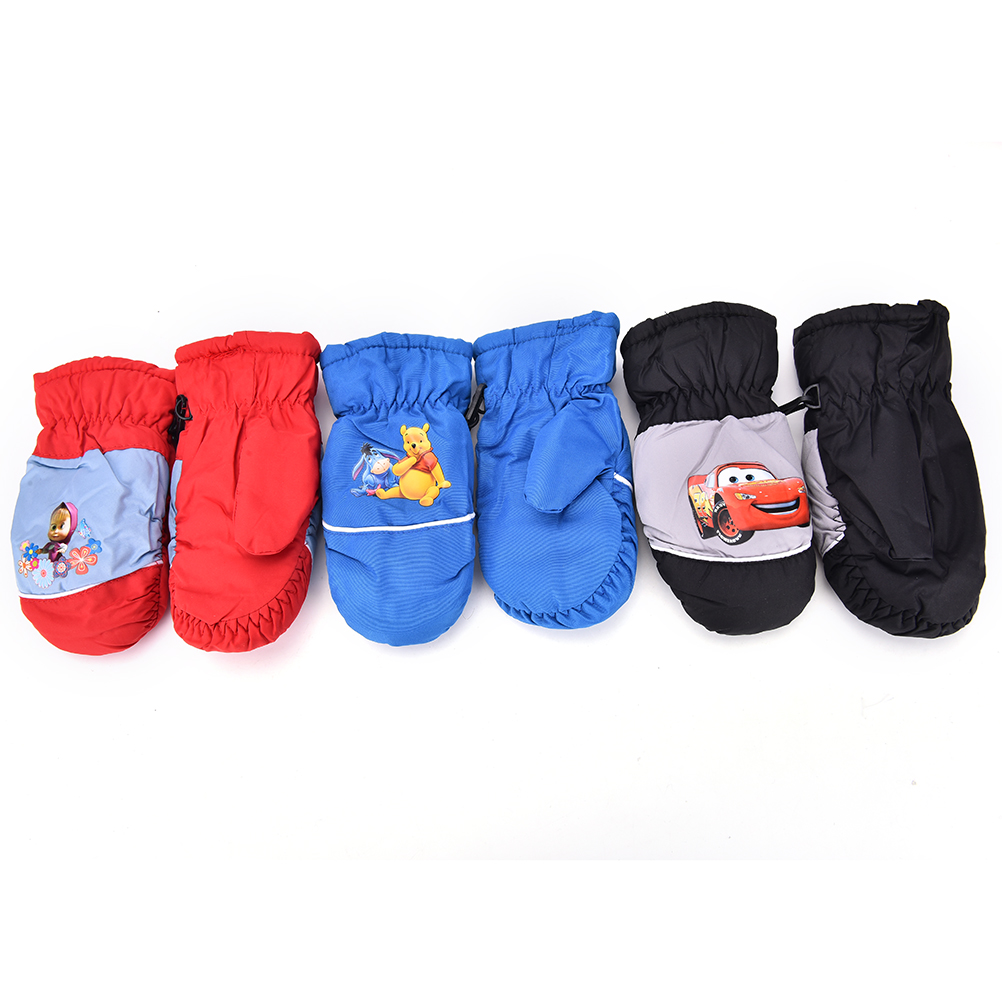 New Children Kids Mittens Gloves Outdoor Winter Snow Warm Gloves Boys Girls Waterproof Windproof Glove Baby Sport Thick Tactical