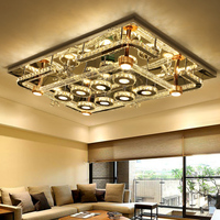 IWHD K9 Crystal Ceiling Lights For Living Lamparas De Techo Modern Ceiling Lamp LED Plafonnier Home Lighting Fixtures Lustre