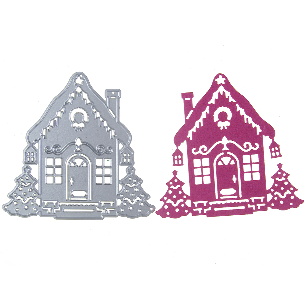 Adv-one Metal Dies Cutting Decorative Embossing DIY House Backdrops Card Scrapbooking St ...