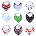 Cute Baby Bandana Drool Bibs - 4- Pack Set with Snaps - Soft and Absorbent Infant and Toddler Accessories
