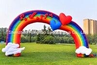 8.3 м (27 футов) надувные Радуга Арки арки для детского сада сварки партии фестивалей Аксессуары с воздуха Воздуходувы