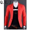 Q. E. JNew Мода Стильный мужской Костюм, мужская Blazer, деловой Костюм, официально Костюм, 7 цвета Размер: ML-XL-XXL XXXL Бесплатная Доставка, R1000