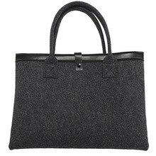 Woolen felt Laptop Bag Sleeve Case For Macbook Air Pro 11 13 15 inch Men Women Universal 11 13 15 15.6 inch Notebook Handbag