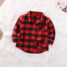 Модная осенняя классическая рубашка с длинными рукавами для мальчиков и девочек шотландка клетчатые рубашки топы одежда