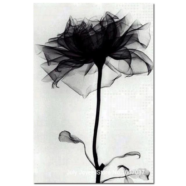 Black Flower Like A Swan A Cygnus Simple Diamond Embroidery Wall Decoration Painting Rhinestones