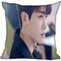 Neue Benutzerdefinierte Park Hyung Sik Kissenbezüge Gedruckt Platz Silk Kissen Hause Dekorative zipper Satin Kissenbezüge (Eine Seite)