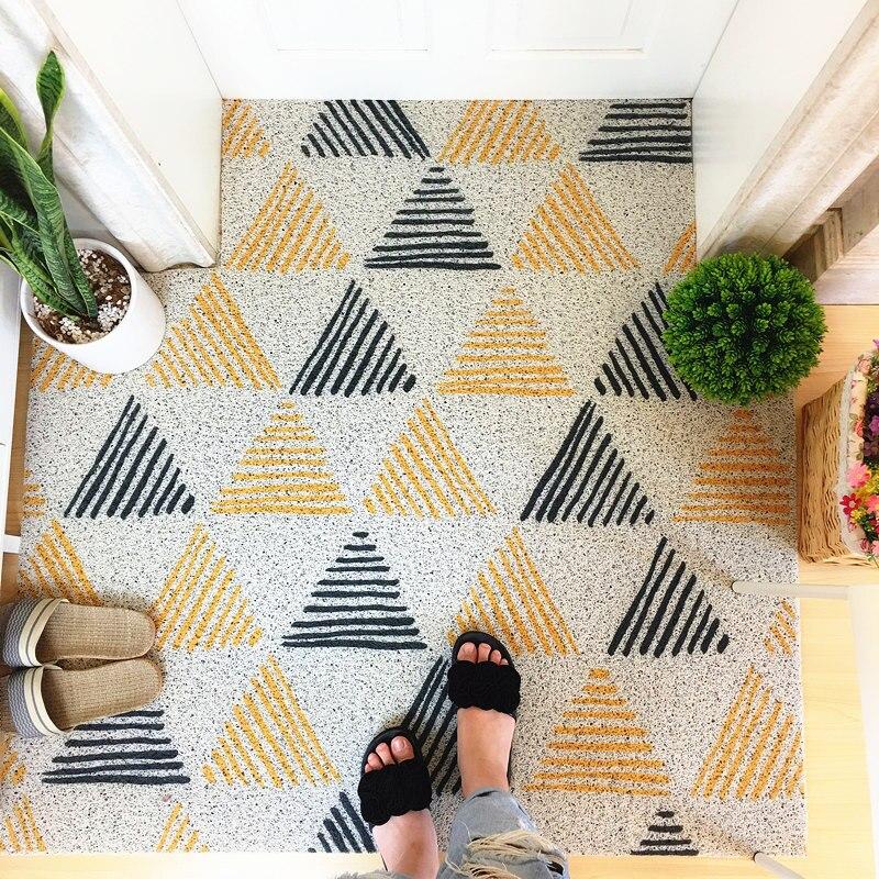 Pvc Modern Silk Loop Dust Proof Printed Rug Doormat