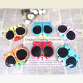2016 new Children cartoon sunglasses Little Panda Boys/Girls Gafas Oculos Foldable baby Sunshades lovely glasses