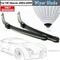 For 2002-2009 VW Volkswagen Sharan Car Soft Rubber Wiper Blade Vehicle Window Blacketless Windshield Wiper Blades 2Pcs