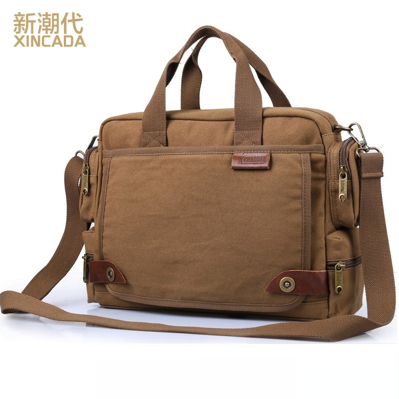 DB29 Hot Sale High Quality Multifunction Men Canvas Bag Casual Travel Bolsa Masculina Men's Crossbody Bag Laptop Bag high quality casual men bag