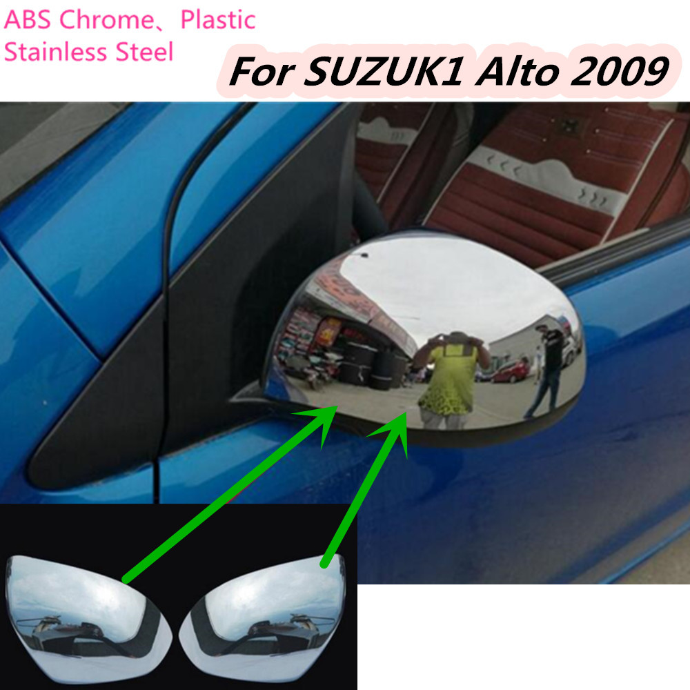 For Suzuki Alto 2009 ABS chrome decoration font b Car b font Styling back rear view