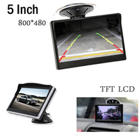 5 Inch Car Monitor TFT LCD Digital Display HIGH DEFINITION Color Car Rear View Monitor Support