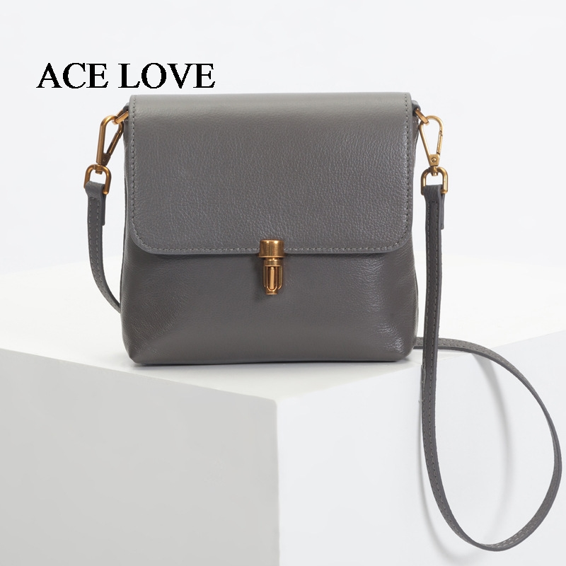 Fashion Brand Genuine Leather Messenger Bag Flap Women Shoulder Bags Top Cow Women Clutch Camera Bag Female Bullet Lock Handbags