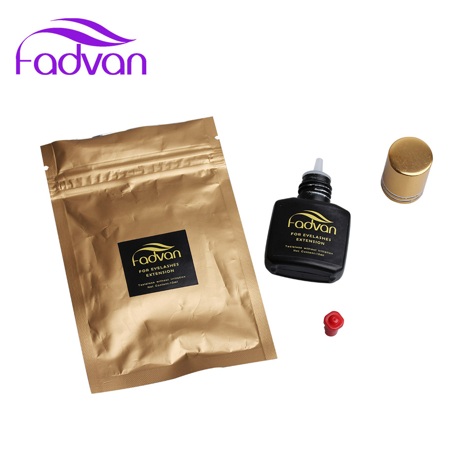 Fadvan 5ml 10ml False Eyelashes Glue Fast Dry No Odor No Simulation Lash Glue Eyelash Individual Black Eyelash Glue in Eyelash Glue from Beauty Health