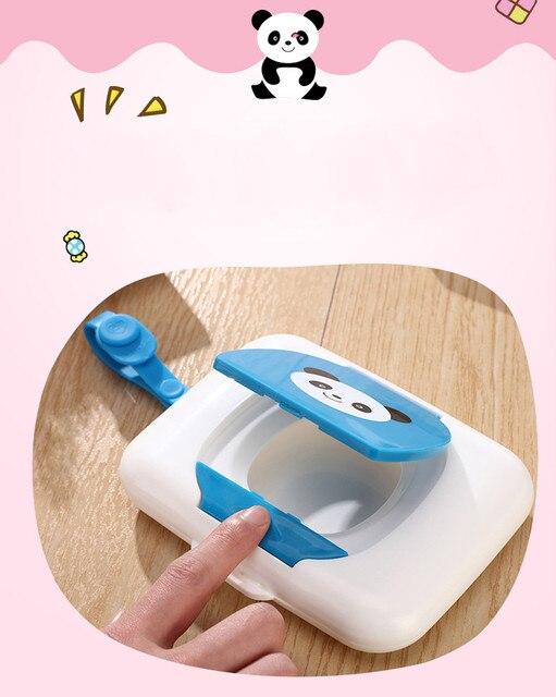 New Cute Baby Travel Wipe Case Child Wet Wipes Box Changing Dispenser Storage Holder Napkin Box Baby Kids Wipes Storage Case  1