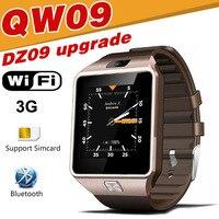 QW09 Smart horloge DZ09 Android Upgrade Bluetooth Mobiele telefoon Smartwatch 3G WIFI Kaart rvs case Alarm touch