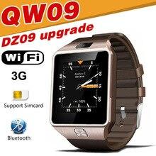 Продажа Qw09 Смарт-часы dz09 Обновление Android Bluetooth мобильного телефона SmartWatch 3G WI-FI карты корпус из нержавеющей стали сигнализации touch