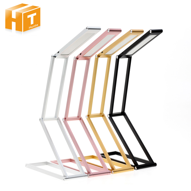 LED Desk Lamp Transformers 2-Level Dimmable Portable Table Lamp USB Rechargable Aluminum Alloy Foldable Night Light