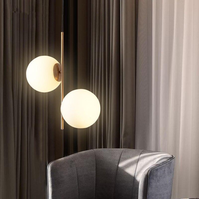 Moderne glas ball anhänger lampe licht für wohnzimmer schlafzimmer restaurant dekoration hängen licht