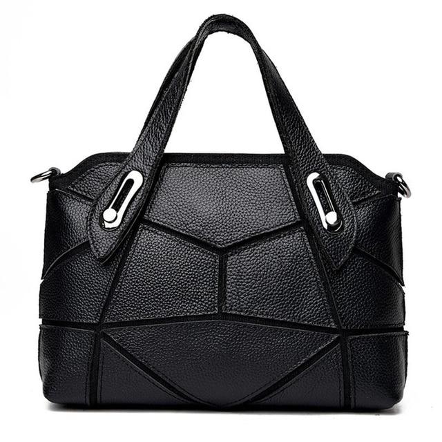 RanHuang New 2017 Women Genuine Leather Handbags Fashion Patchwork Handbags High Quality Cow Leather Shoulder Bags Ladies bolsas