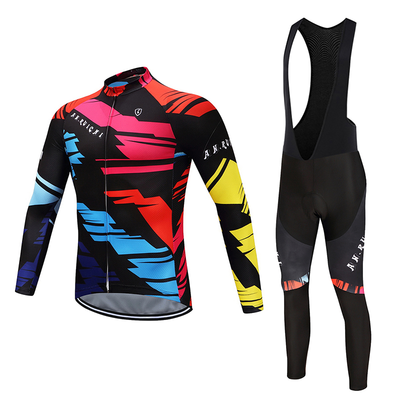 Men Long Sleeve Bicycle Cycling Sets Quick Dry Colorful Pattern 3D Padding Cushion Sport Jerseys Customized/Wholesale ServiceMen Long Sleeve Bicycle Cycling Sets Quick Dry Colorful Pattern 3D Padding Cushion Sport Jerseys Customized/Wholesale Service