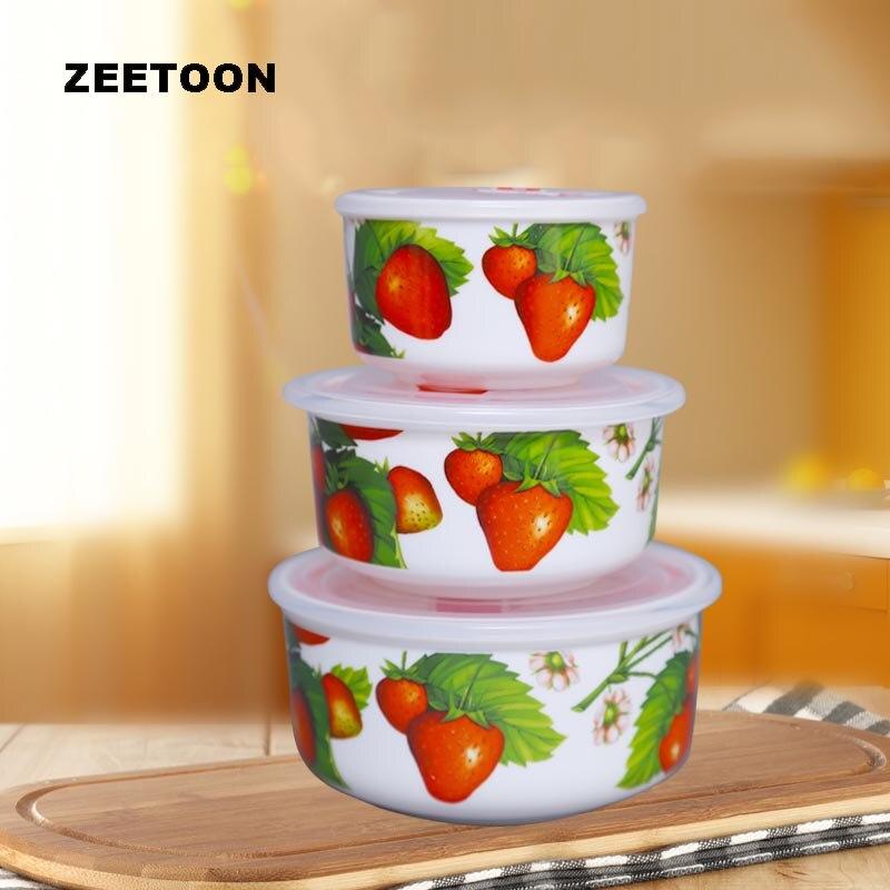 Boîtes à déjeuner en céramique moderne   Boîtes à déjeuner en porcelaine, vaisselle de table, viande fruits frais boîte avec couvercle bols de soupe de riz et de nouilles 3 pièces/lot
