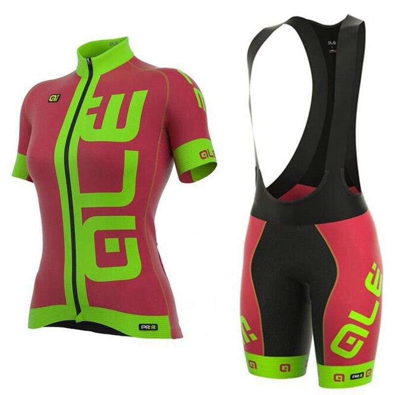 Mujeres Ciclismo Jersey Sky ALE bike ropa de manga corta BiB secado rápido  ropa deportiva ropa maillot ciclismo 1e5481725b020