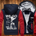 Japan Anime Coat Luffy Chopper Print Thicken Zipper Jacket Casual Mens Sweatshirt Hoodies
