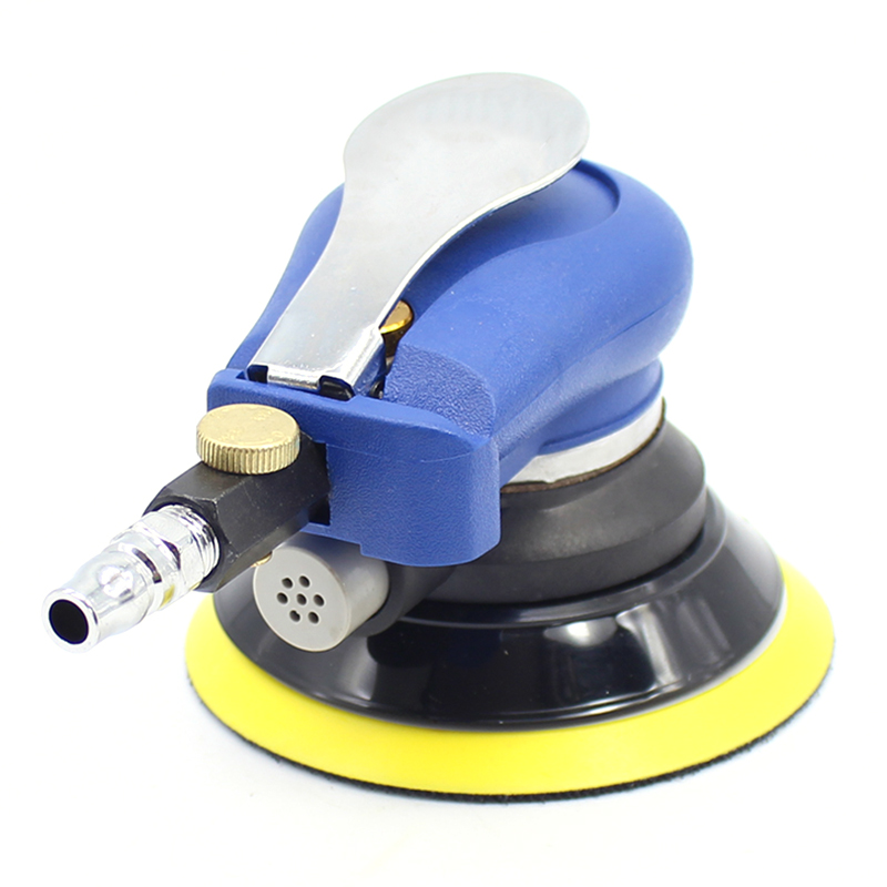 5 Inch Car Polishers Pneumatic Sander Pneumatic Polishing Machine Air Eccentric Orbital Sander Tool 9000R.P.M Woodworking Polish