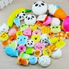 30 Pcs Lot Squishy Cat Bread Cake Cream Bun Pendant Donut Charm Squeeze Toy Squish Slow