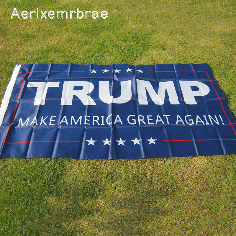 Envío gratis trump flag NUEVO 90x150cm Donald Trump Flag 2016 Make America Great Again Donald para presidente EE. UU.
