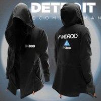 Anime Game Detroit: Become Human RK800 KARA Cosplay Hoodies Sweatshirt Autumn&Winter MD LONG Trench Coat Men Women Dust Coat TOP