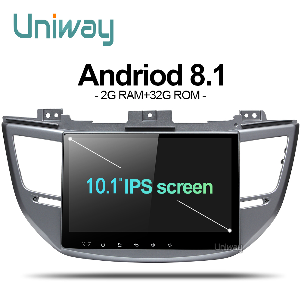 Uniway AXTS1071 2G 32G Octa 8 core android 8 1 car dvd for Hyundai Tucson IX35
